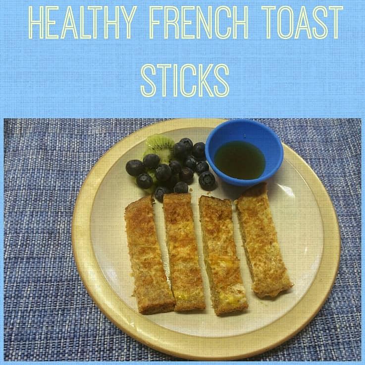 Healthy french toast with sprouted grain bread!