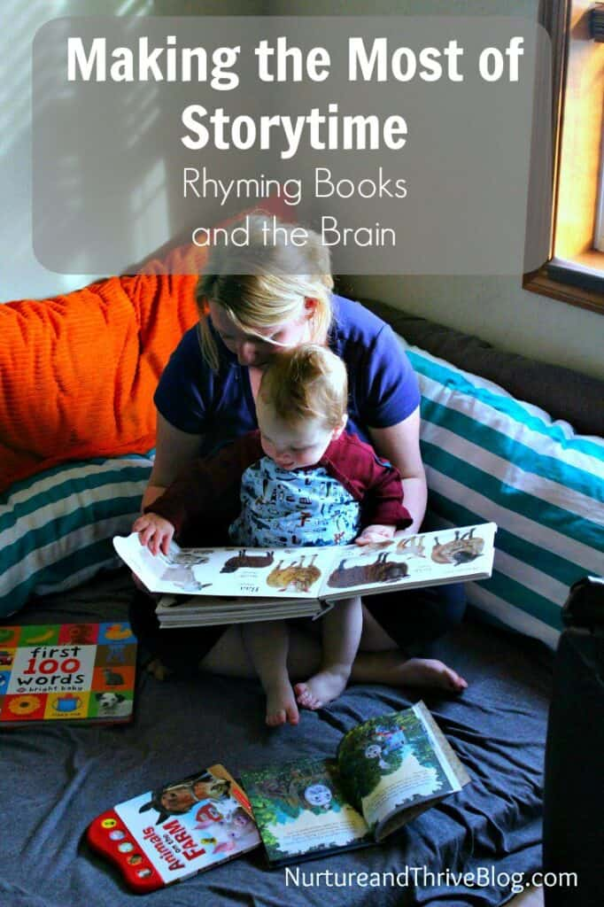 The top three things parents can do while reading to promote literacy. I never knew rhyming books were good for brain development!