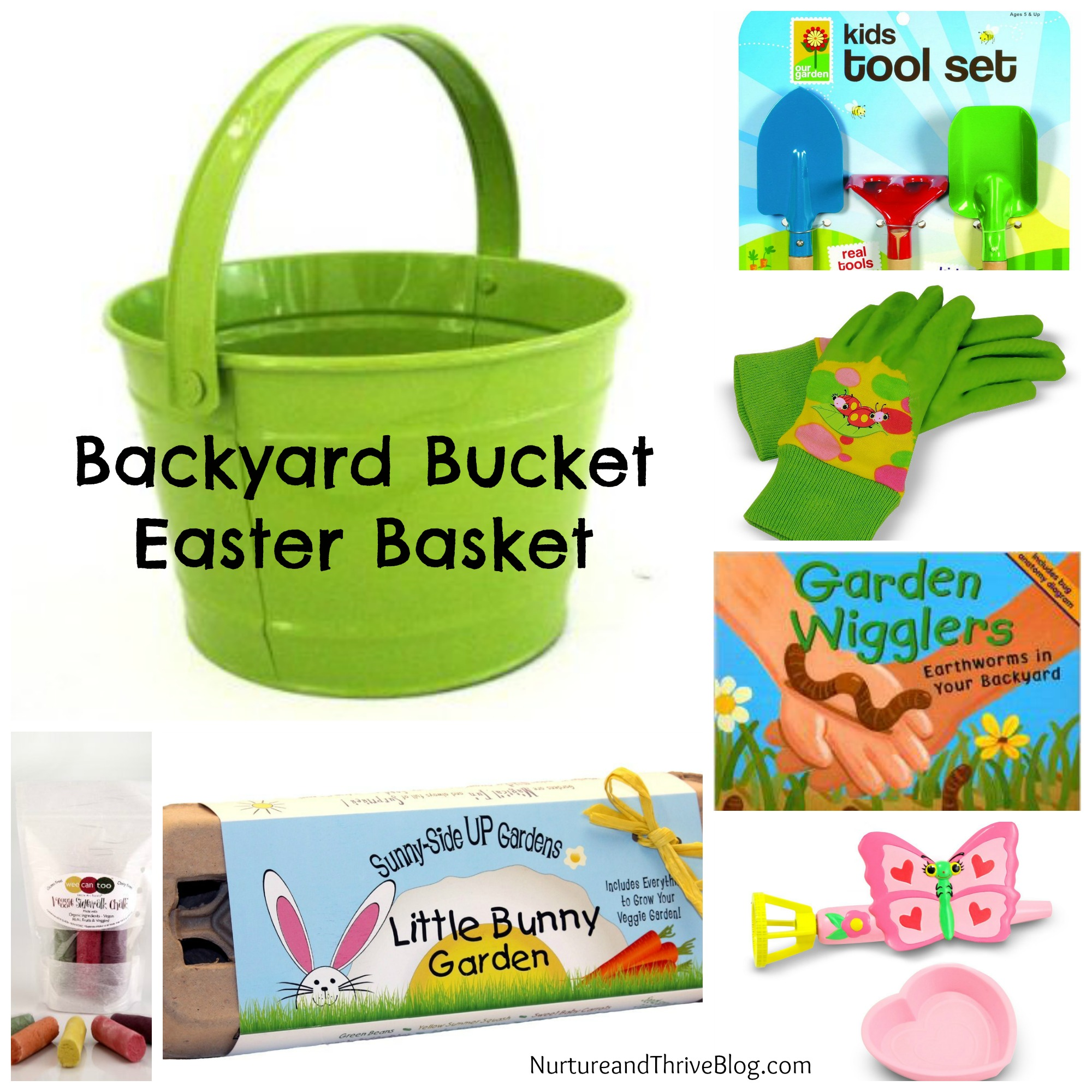 Two nature themed easter basket ideas nurture and thrive nurture kids easter basket ideas backyard bucket nurture and thrive blog negle