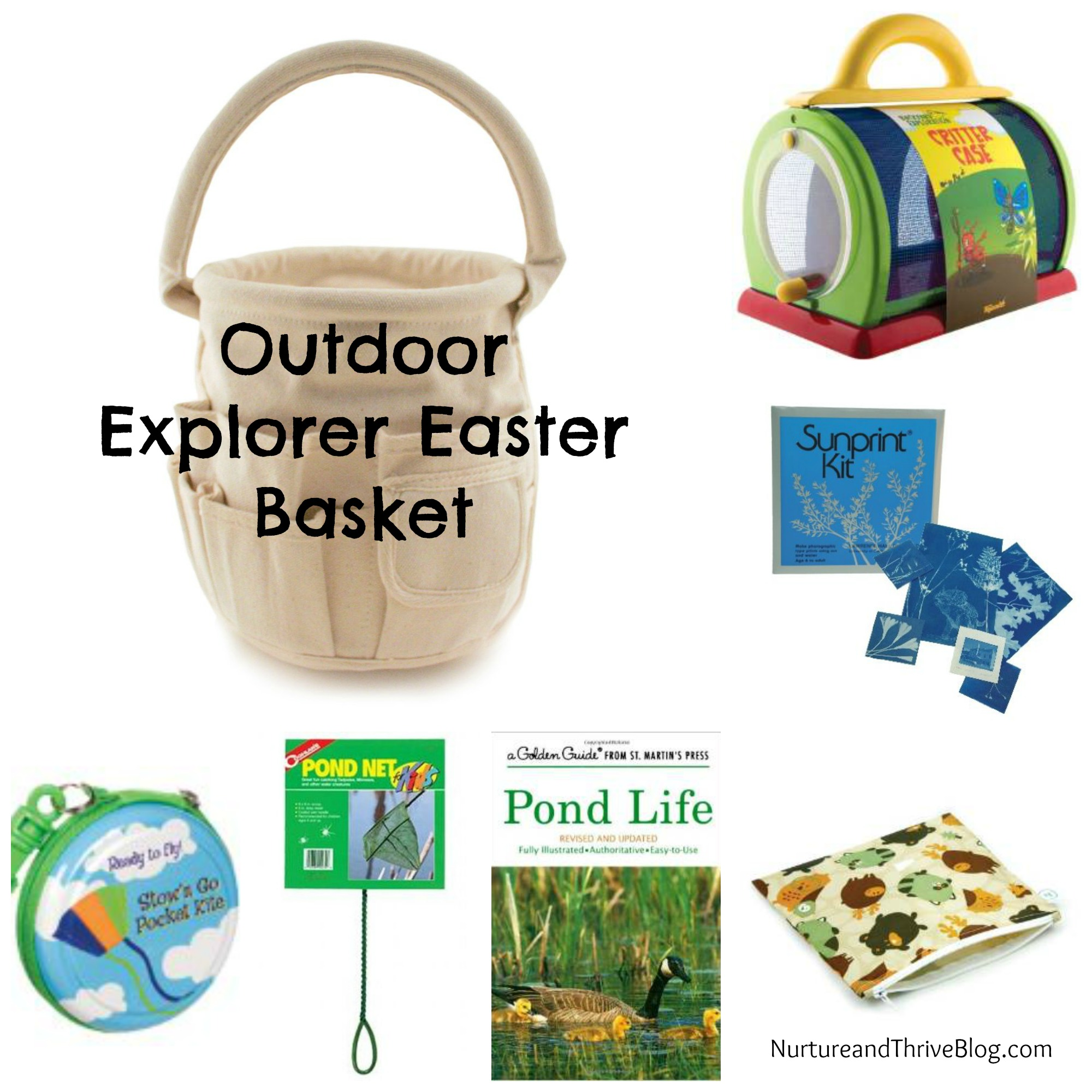 Two nature themed easter basket ideas nurture and thrive nurture kids easter basket ideas outdoor explorer nurture and thrive blog negle Images