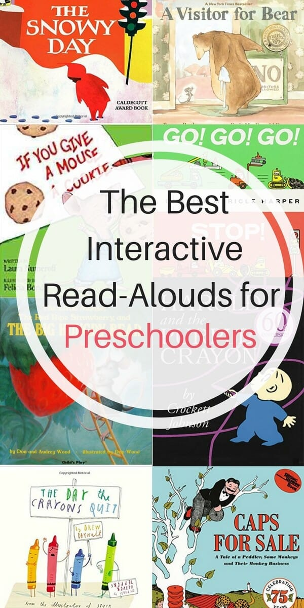 The best read-aloud books for preschoolers. Examples of how to use interactive prompting to help your child learn how to read according to child development research. #bestbooksforpreschoolers #childrensbooks #bestbooksforkids #preschoolers