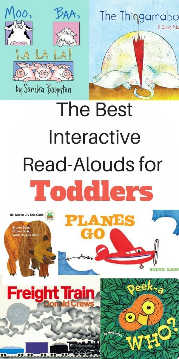 The best read-aloud books for toddlers. Examples of how to use interactive prompting to help your toddler learn how to read according to child development research. #bestbooksfortoddlers #childrensbooks #bestbooksforkids #toddlers