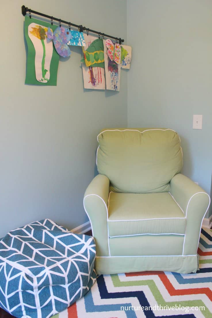 A place to hang out. Great tips on how to create a playroom that grows with your child. Ikea hacks!