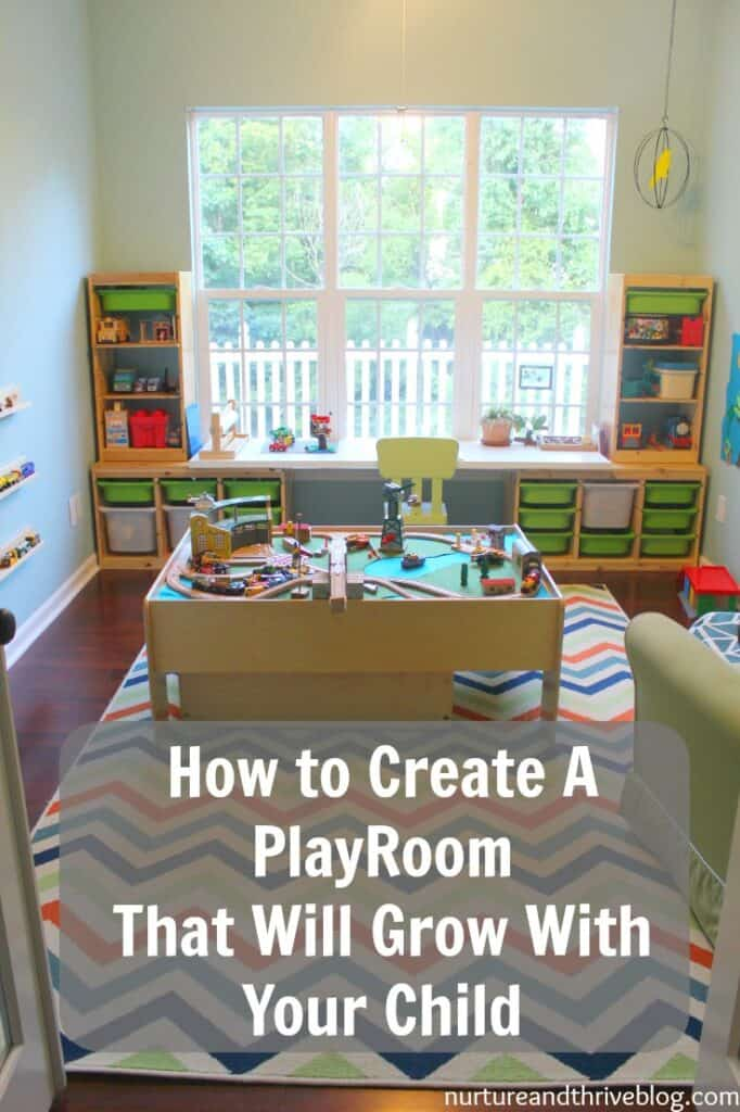 Tips from a child psychologist on creating a playroom that will grow with your child. She also discusses essential play areas all playrooms should have. All on a budget-- everything is from Ikea and Target! Ikea hacks!