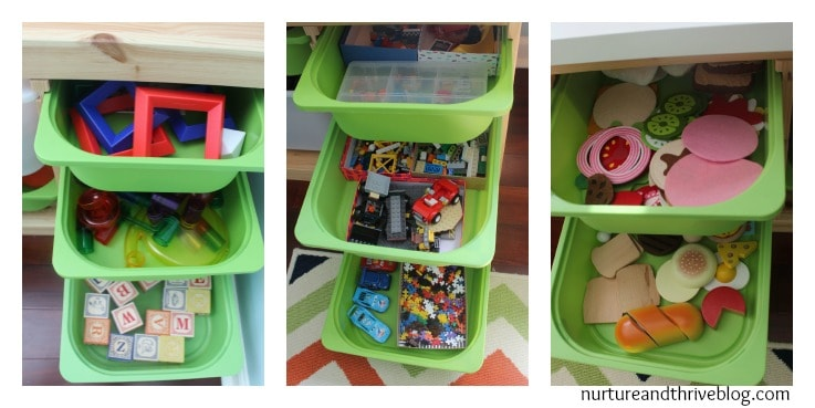 5 awesome tips for playroom organization from a child psychologist. Don't miss the closet and the wall storage ideas!