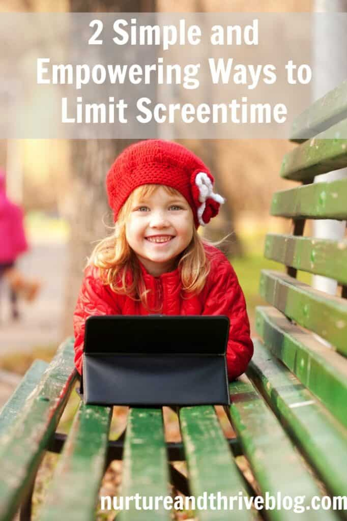 Power struggles over screen time? No more-- this tip gives your kids control over screen time and limits it at the same time! Empower them to regulate screen time themselves and set them up for a long term successful relationship with technology!