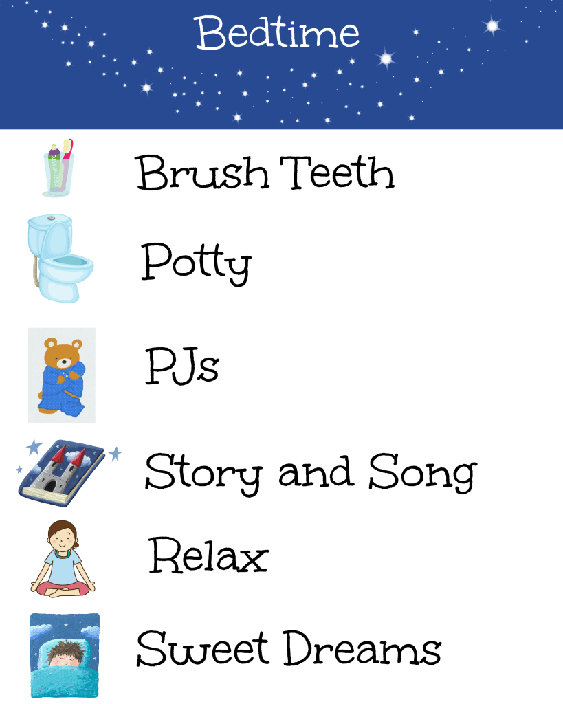 picture relating to Bedtime Routine Chart Printable named Bedtime Timetable Chart-- Nurture and Be successful Nurture and Be successful
