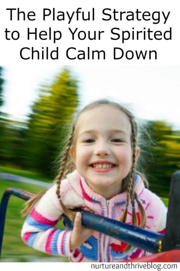Great tip to help your high energy child reset and go on playing. Help your child play in a calm way without suppressing their excitement.