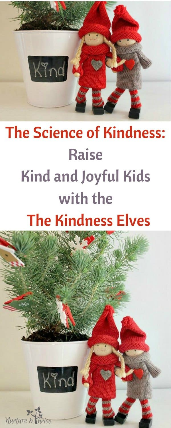 Science shows that children are not only prewired for kindness, but that being kind results in feeling good. With the Kindness Elves, you can do simple things that are backed by research to encourage your child to practice kindness and discover the joy of giving to others. A great alternative to the Elf-on-the-Shelf. #positiveparenting #thekindnesselves #kindness101 #actsofkindness #kindness #kindnesselves #kindkids #positivekids