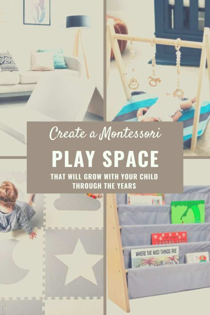 montessori play area for babies and toddlers