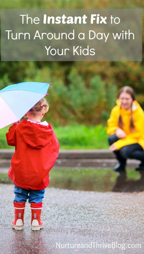 Spending time outside has been shown to calm the mind, increase well-being, enhance learning and increase kindness in kids and in moms. But did you know even minutes outside has positive benefits? This is the instant fix to a bad day!