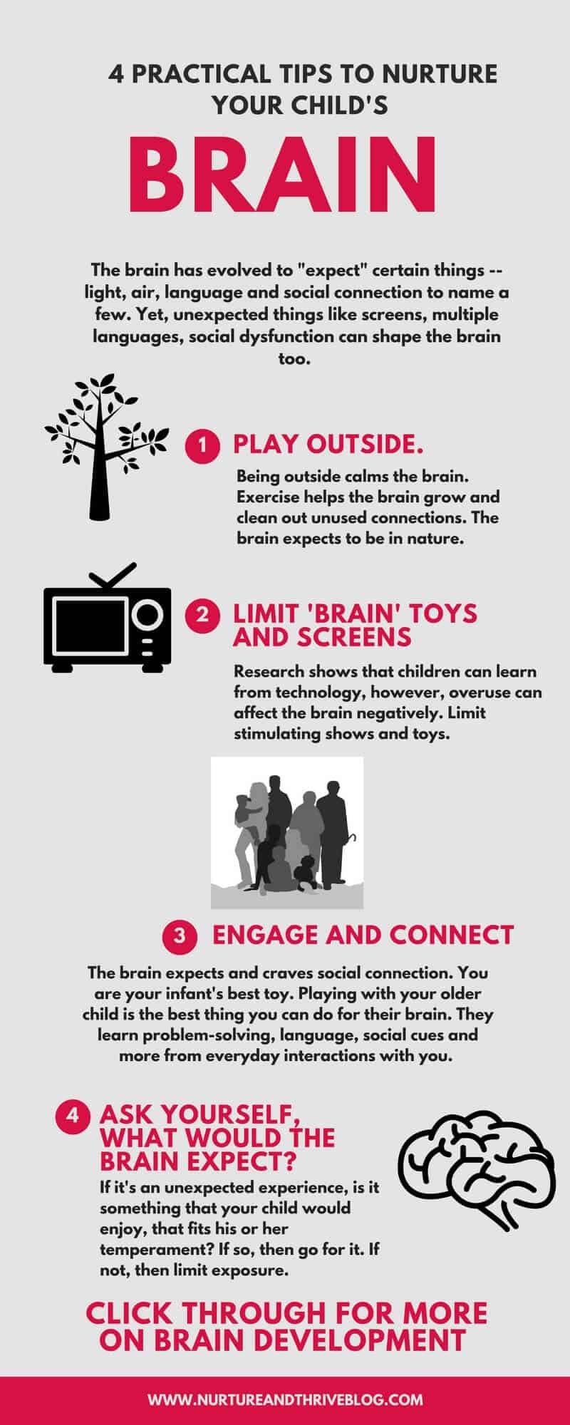 Four ways to nurture your child's brain. How a child's environment can shape their brain development for better or for worse.