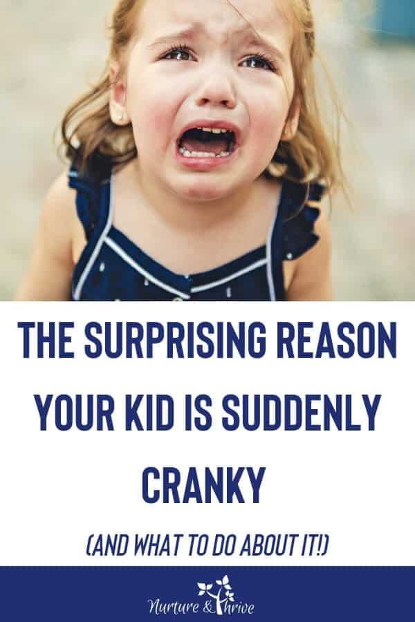 A cranky child is a growing child. Five ways to support your child's brain through cognitive leaps and growth spurts. A parenting action plan on how to get your child back to their happy selves. #toddlers #crankykids #parenting #positiveparenting #growthspurts #cognitiveleaps #kids #parentinghack #hacksforgrumpykids