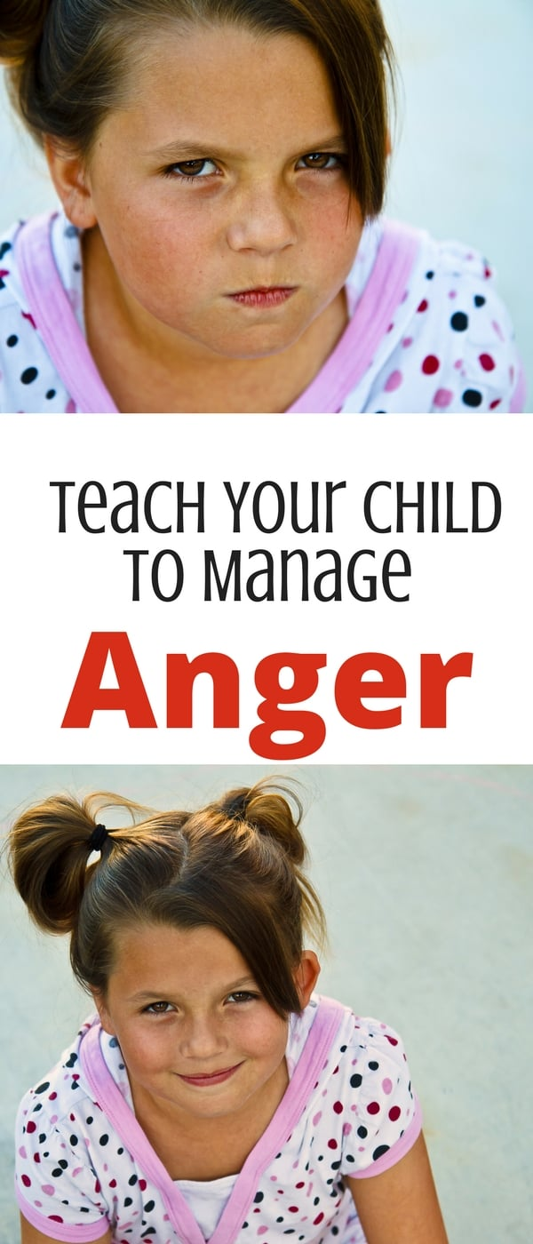 Four steps to teach your child to manage and understand anger! Use self-regulation to teach children to handle anger-- great books recommendations too!