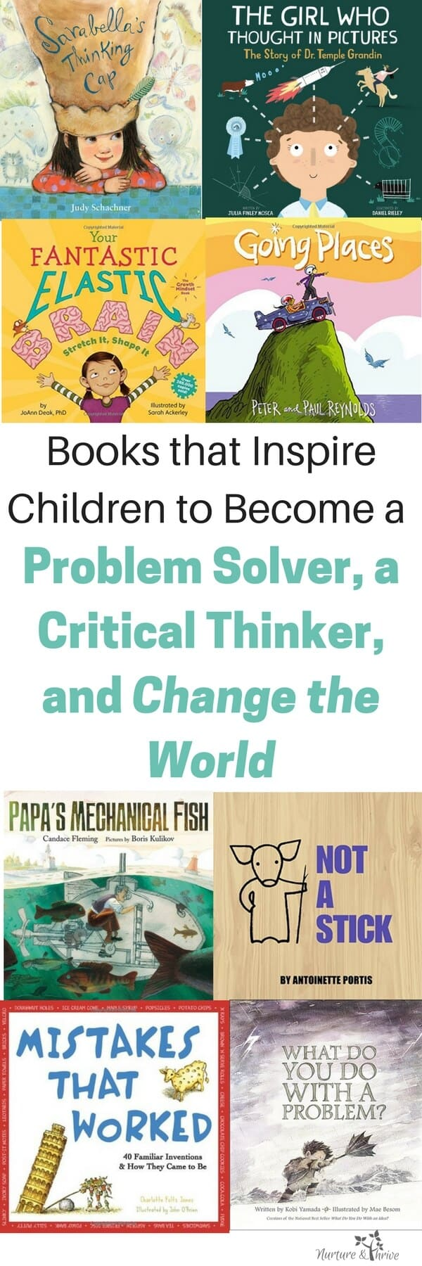 Four ways to raise your child to be a critical thinker, an innovator, and to embrace diversity in thinking. These books teach children about metacognition and the brain. #criticalthinking #metacognition #childrensbooks #diversity #parenting #mindfulparenting #perseverance #creativity #braindevelopment #scienceforkids #sciencebooks #giftedkids