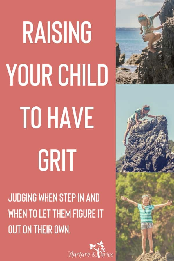 Do you ever wonder if you do too much for your child? How to help your child handle challenges, stress, and frustration so that they can persevere. How to judge when to step in and help and when to stand back and let them figure it out. A three-step guide to building up your child's emotional intelligence and grit.  #positiveparenting #childdevelopment #mindfulparenting #grit #emotionalintelligence #parenting