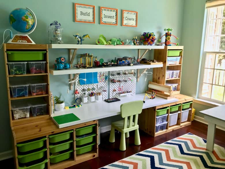 Makerspace playroom for kids