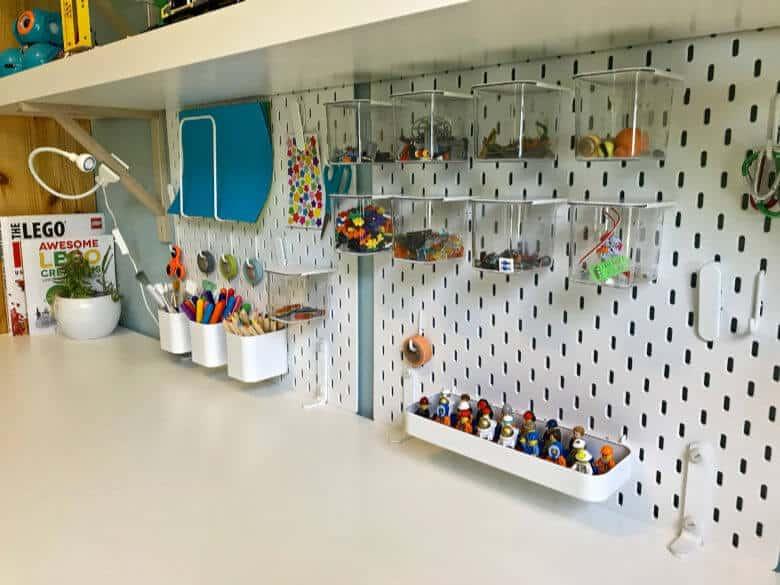 Pegboard Kid's Room Organization