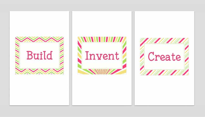 Printable Playroom Signs Girl Innovators