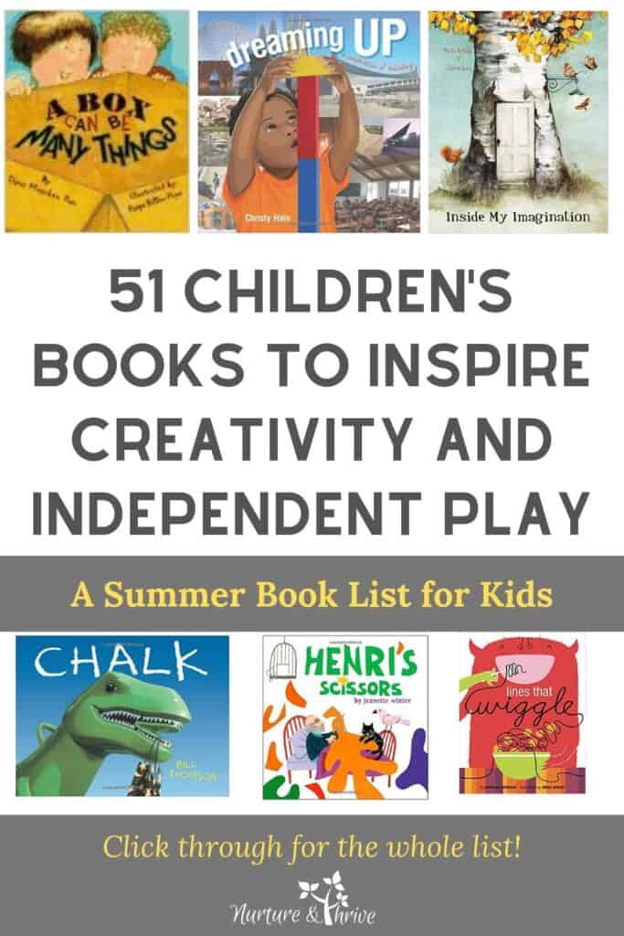 summer book list for kids to spark their creativity and independent play