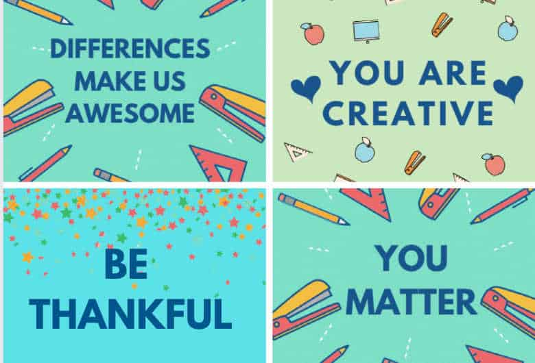 Kindness Lunch Box Notes for Kids