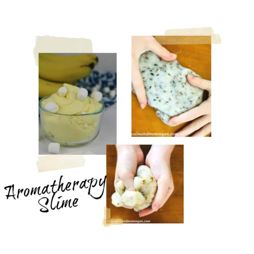 aromatherapy slime sensory activity for kids