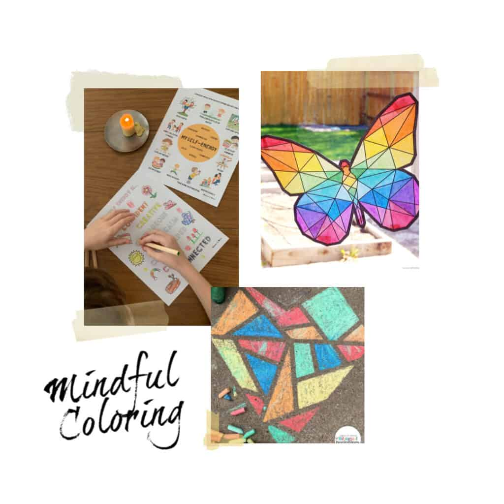 mindful coloring activities for kids