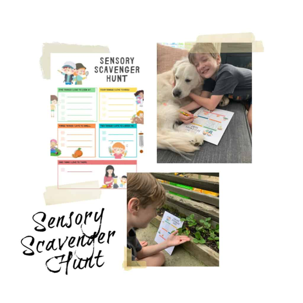 sensory scavenger hunt for kids