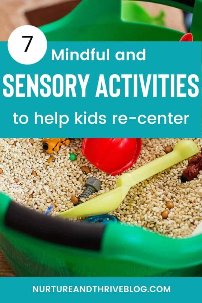 Mindful sensory activities to help children release worry or anger 3