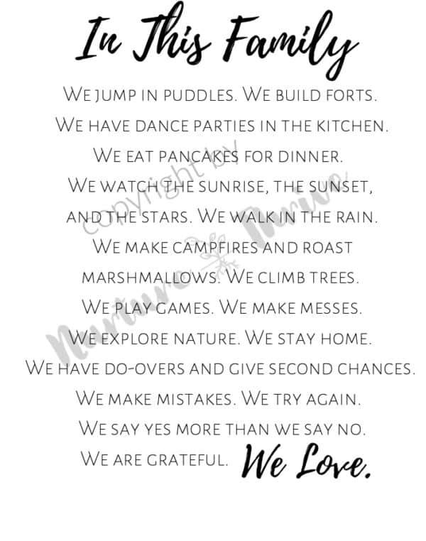 Family Manifesto 1