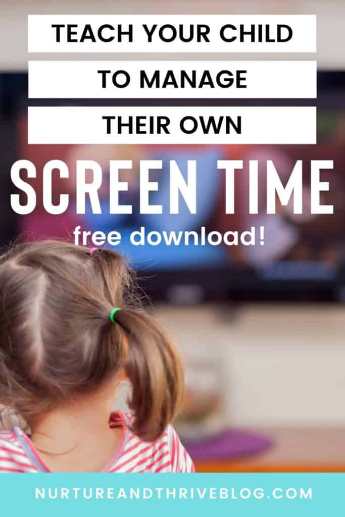 set screen time limits your child can manage!