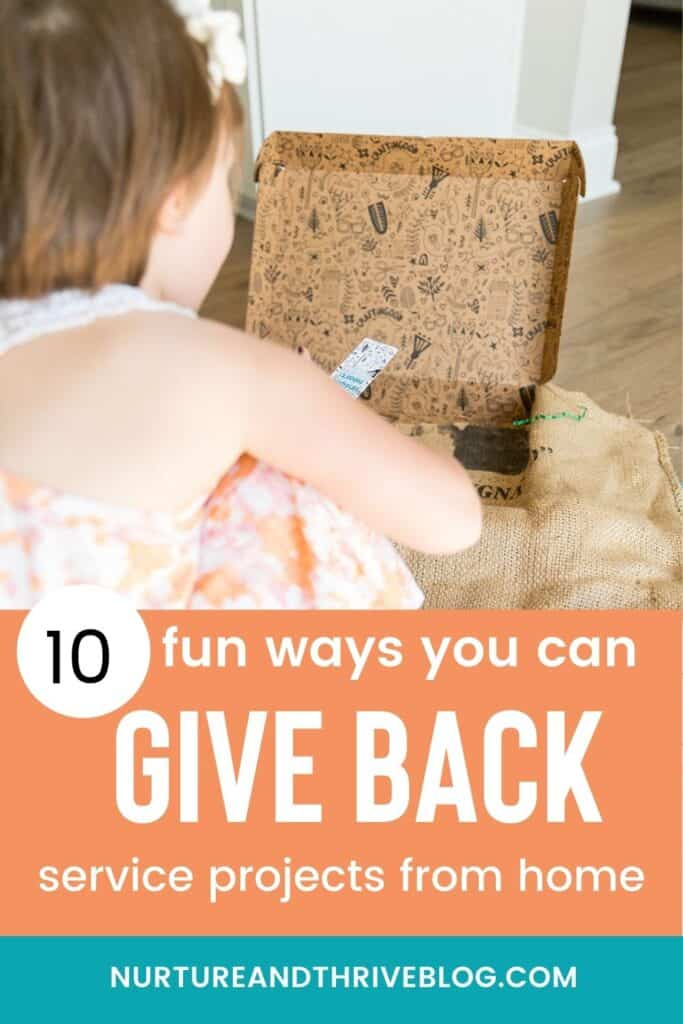 10 service projects for kids at home ideas!