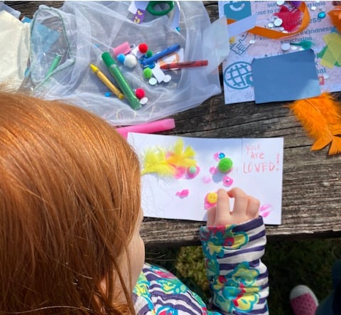 service projects for kids - cards for kids