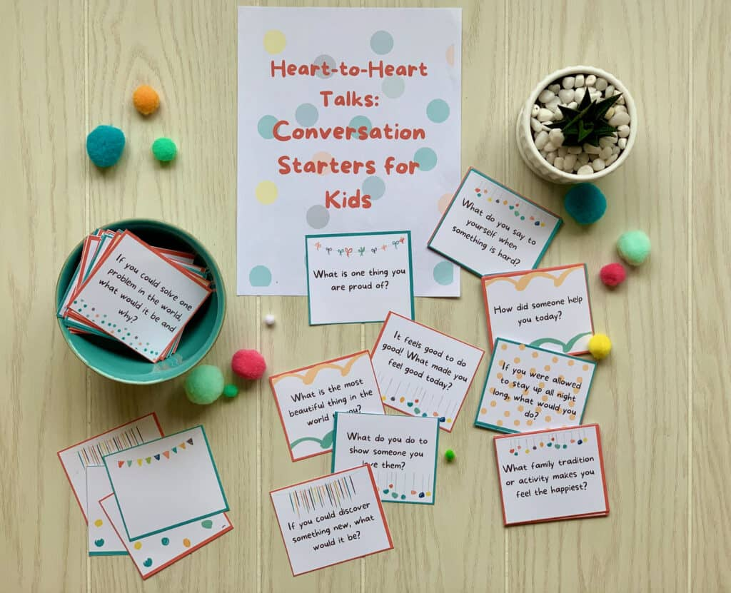 Instant Download: 68 Conversation Starters for Kids