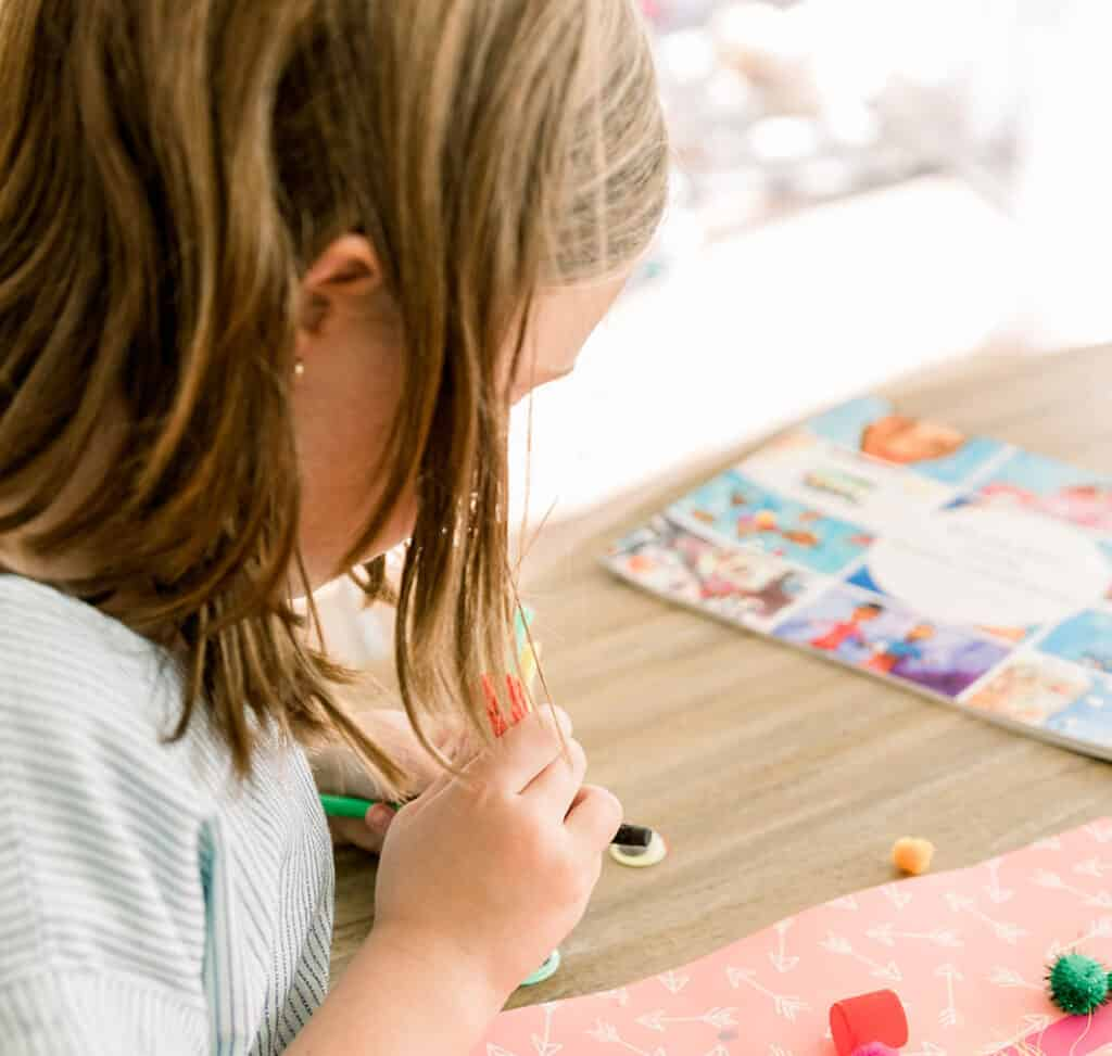 kindness bookmarks -- service projects for kids at home